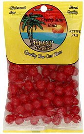 cherry sour balls Island Snacks Nutrition info