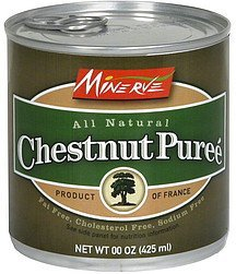 chestnut puree Minerve Nutrition info