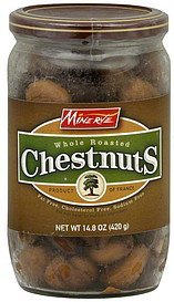 chestnuts whole roasted Minerve Nutrition info