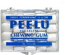 chewing gum sugarless, peppermint Peelu Nutrition info
