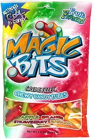 chewy candy tubes creme filled, assorted flavors Magic Bits Nutrition info