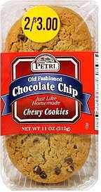 chewy cookies old fashioned chocolate chip Petri Nutrition info