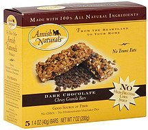 chewy granola bars dark chocolate Amish Naturals Nutrition info