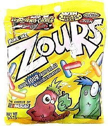chewy sour candies Zours Nutrition info