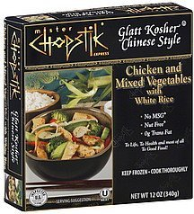 chicken and mixed vegetables with white rice Mister Chopstick Express Nutrition info