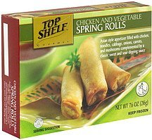 chicken and vegetable spring rolls Top Shelf Nutrition info
