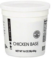 chicken base Origin Foods Nutrition info