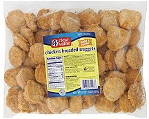 chicken breaded nuggets Clear Value Nutrition info