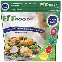 chicken breast chunks breaded, with rib meat, crunchy style Fit Foodz Nutrition info