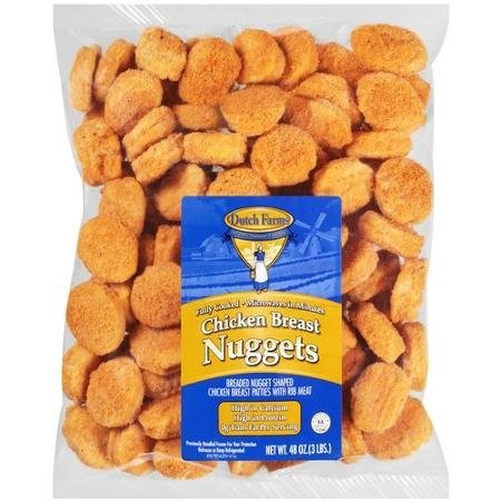 chicken breast nuggets DUTCH FARMS Nutrition info