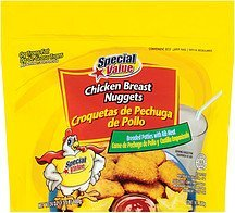 chicken breast nuggets Special Value Nutrition info