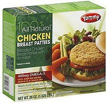 chicken breast patties Yummy Nutrition info