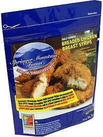 chicken breast strips breaded Springer Mountain Farms Nutrition info