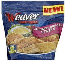chicken breast strips Weaver	 Nutrition info