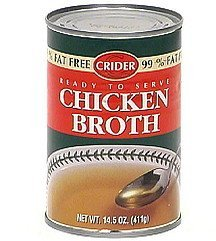 chicken broth Crider Nutrition info