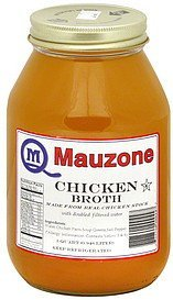 chicken broth Mauzone Nutrition info