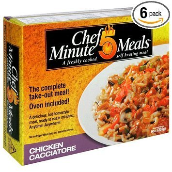 chicken cacciatore Chef 5 Minute Meals Nutrition info