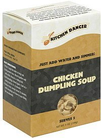 chicken dumpling soup Kitchen Dancer Nutrition info
