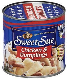chicken & dumplings Sweet Sue Nutrition info