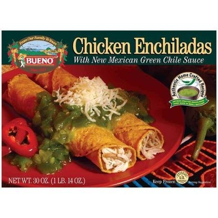 chicken enchiladas with new mexican green chile sauce Bueno Nutrition info