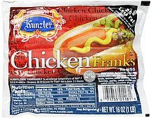 chicken franks Kunzler Nutrition info
