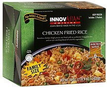 chicken fried rice family size InnovAsian Cuisine Nutrition info