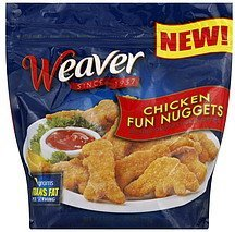 chicken fun nuggets Weaver	 Nutrition info