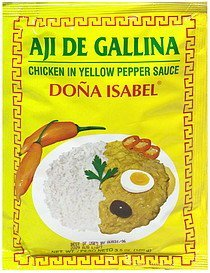 chicken in yellow pepper sauce Dona Isabel Nutrition info