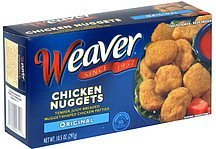 chicken nuggets original Weaver	 Nutrition info