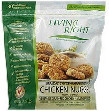 chicken nuggets Living Right Nutrition info
