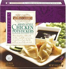 chicken potstickers asian style World Classics Trading Company Nutrition info