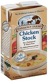 chicken stock HARMONY FARMS Nutrition info