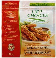chicken strips Life Choice Nutrition info