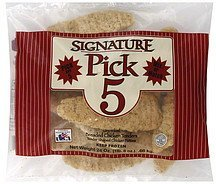 chicken tenders breaded, uncooked Signature Pick 5 Nutrition info