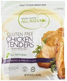 chicken tenders gluten free Golden Platter Nutrition info