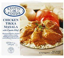 chicken tikka masala with cumin pilaf Exotic Foods Nutrition info