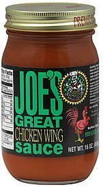 chicken wing sauce buffalo style, regular Joes Nutrition info