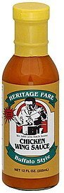 chicken wing sauce buffalo style Heritage Fare Nutrition info