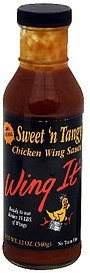 chicken wing sauce sweet 'n tangy Wing It Nutrition info