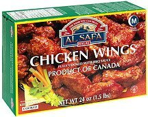 chicken wings with bbq sauce, cooked Al Safa Halal Nutrition info
