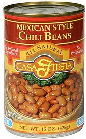 chili beans mexican style, medium Casa Fiesta Nutrition info