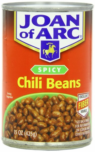 chili beans spicy Joan of Arc Nutrition info