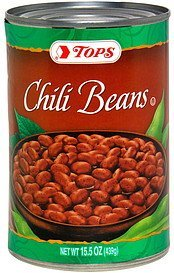 chili beans Hy Tops Nutrition info