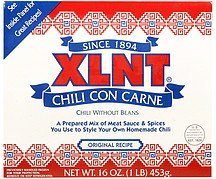 chili con carne original recipe Xlnt Nutrition info