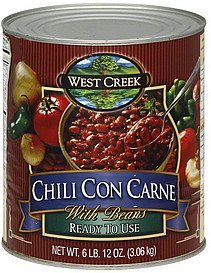 chili con carne with beans West Creek Nutrition info