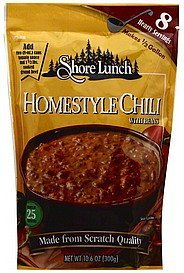chili homestyle, with beans Shore Lunch Nutrition info