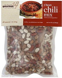 chili mix 3 bean My Favorite Gourmet Nutrition info