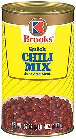 chili mix quick Brooks Nutrition info