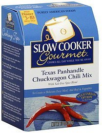 chili mix texas panhandle chuckwagon Slow Cooker Gourmet Nutrition info