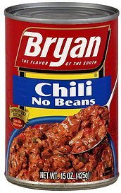 chili no beans Bryan Nutrition info